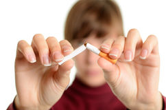 Het Roken van het einde Stock Foto's