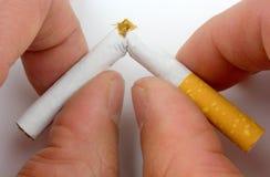 Het roken van het einde stock afbeelding