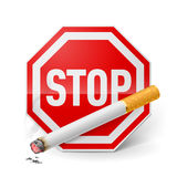 Het roken van het einde Royalty-vrije Stock Afbeeldingen