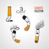 Het roken van het einde! Stock Foto's