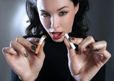 Het roken van het einde! Royalty-vrije Stock Afbeelding