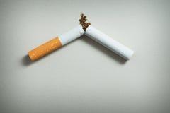 Het roken van het einde royalty-vrije stock foto's