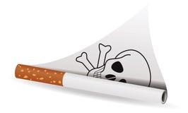Het roken van het einde royalty-vrije illustratie
