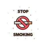 Het roken van het einde Vector illustratie Royalty-vrije Stock Foto's