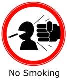 Het roken van het gevaar vector illustratie
