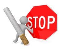 Het roken verbod Stock Fotografie