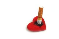 Het roken vernietigend gezondheid Stock Foto's