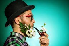 Het roken vintge Stock Foto's