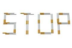 Het Rokende Teken van het einde Royalty-vrije Stock Fotografie