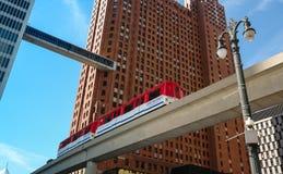 Het Rollende trottoir van Detroit stock foto's