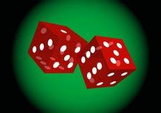 Het Rolling casino dobbelt Stock Afbeeldingen
