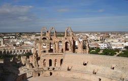 Het Roman amfitheater in Gr-Jem Stock Fotografie