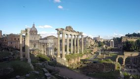 Het Roman Forum stock video