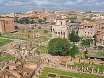 Het Roman Forum Stock Afbeeldingen