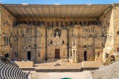 Het Roman theater in Sinaasappel - Frankrijk Stock Afbeeldingen