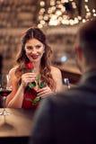 Het romantische diner met wekt op royalty-vrije stock afbeeldingen