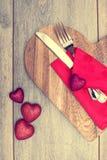 Het romantische Diner Plaatsen Stock Afbeelding