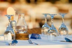 Het romantische dineren Royalty-vrije Stock Afbeeldingen