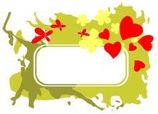 Het romantische frame van Grunge Stock Afbeeldingen