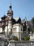 Het romantische kasteel van architectureofPeles, Transsylvanië Stock Fotografie