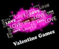 Het Romantische Spel van Valentine Games Shows Valentines Day royalty-vrije illustratie