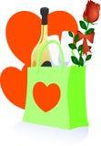 Het romantische winkelen vector illustratie
