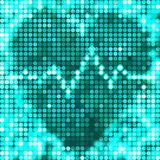 Het ronde blauwe hart van mozaïekvlekken met impuls Royalty-vrije Stock Foto's