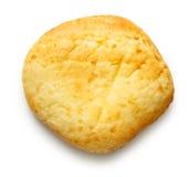 Het ronde broodje van het zure roomdessert royalty-vrije stock afbeelding