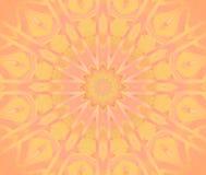 Het ronde geeloranje roze gecentreerde viooltje van het sterornament Royalty-vrije Stock Foto
