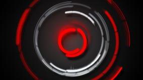 Het ronde licht sleept futuristisch beeld Stock Fotografie