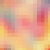 Het ronde patroon van de pixelkunst Kleurrijke moderne achtergrond Royalty-vrije Stock Foto