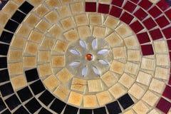 Het ronde patroon van glasmozaïeken Stock Foto's