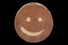 Het ronde wafeltje sneed glimlach stock afbeeldingen