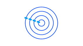 Het rondschrijven van het ladingsscherm, blauw op witte achtergrond - 30fps-lijn - videotextuur, naadloos geanimeerd element vector illustratie