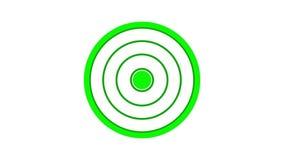 het rondschrijven van het ladingsscherm, groen op witte achtergrond - 30fps-lijn - videotextuur, naadloos geanimeerd element stock illustratie
