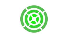 het rondschrijven van het ladingsscherm, groen op witte achtergrond - 30fps-lijn - videotextuur, naadloos geanimeerd element royalty-vrije illustratie