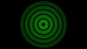 Het rondschrijven van het ladingsscherm, groen op zwarte achtergrond - 30fps-lijn - videotextuur, naadloos geanimeerd element vector illustratie