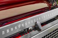 Het rood compenseerde de machinerollen van de drukpersindustrie Royalty-vrije Stock Fotografie