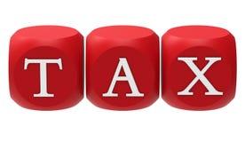 Het rood dobbelt lezingsbelasting royalty-vrije illustratie