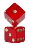 Het rood dobbelt Vorming Stock Afbeeldingen