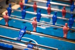 Het rood en het blauw van de lijstvoetbal Royalty-vrije Stock Foto