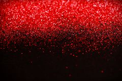 Het rood en de Zwarte schitteren achtergrond Vakantie, Kerstmis, Valentijnskaarten, Schoonheid en Spijkers abstracte textuur Stock Foto's