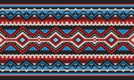 Het rood en het Blauw detailleerden het Traditionele Volks Arabische de Hand van Sadu Weven vector illustratie