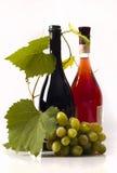 Het rood en nam wijn toe stock afbeelding