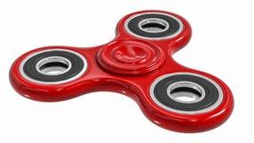 Het rood friemelt de spanning van de vingerspinner, het stuk speelgoed van de bezorgdheidshulp Royalty-vrije Stock Afbeelding