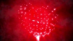 Het rood glanst de achtergrond van de hartvorm stock footage