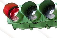 Het rood licht van het verkeer Stock Afbeeldingen