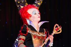Het rood qween van Alice in Sprookjesland Stock Foto