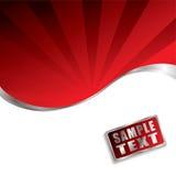 Het rood straalt schuine rand uit Stock Fotografie