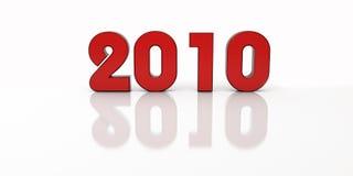 Het rood van 2010 van het nieuwe jaar Royalty-vrije Stock Afbeelding